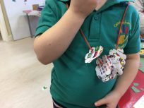 Ella made a necklace for her mummy